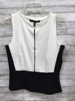 Primary Photo - BRAND: WHITE HOUSE BLACK MARKET , STYLE: TOP SLEEVELESS , COLOR: BLACK WHITE , SIZE: M , SKU: 127-2767-84131, STUNNING WHITE HOUSE BLACK MARKET SLEEVELESS TOP!