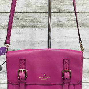 Primary Photo - BRAND: KATE SPADE STYLE: HANDBAG COLOR: PINK SIZE: MEDIUM SKU: 127-2767-92917THIS CROSSBODY IS IN GOOD CONDITION ESPECIALLY ON THE INSIDE. THE OUTSIDE HAS SOME SMALL MARKS ON THE LEATHER (SEE PHOTOS).