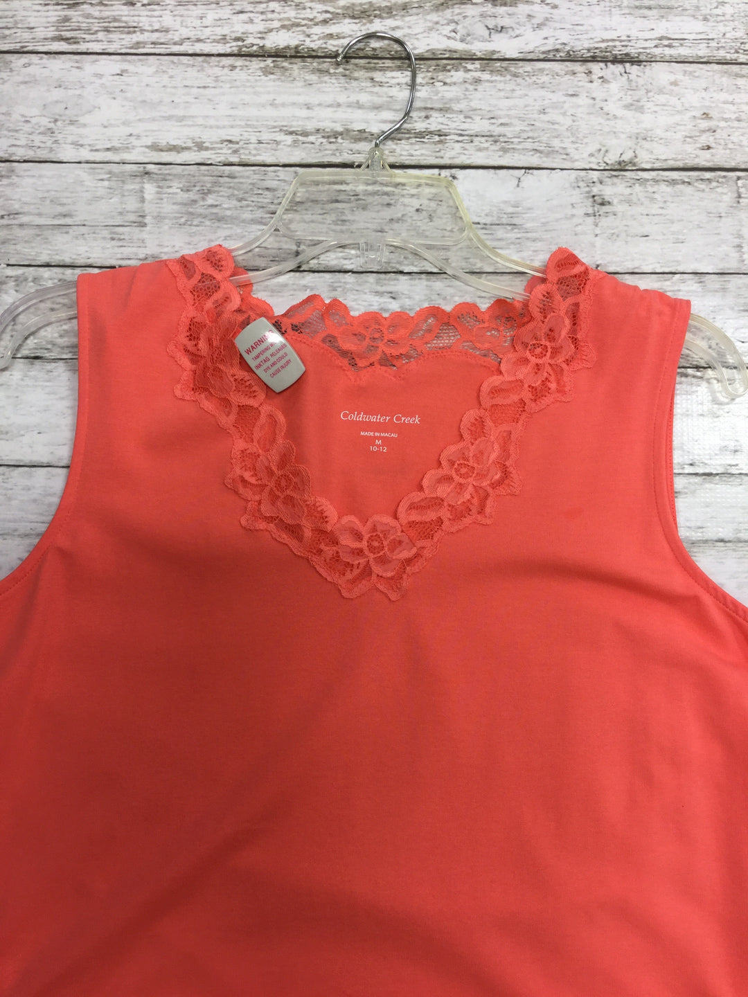 Photo #1 - BRAND: COLDWATER CREEK , STYLE: TANK BASIC CAMI , COLOR: SALMON , SIZE: M , OTHER INFO: NEW! , SKU: 127-4559-9745