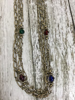 Photo #1 - BRAND:    CMD <BR>STYLE: NECKLACE <BR>COLOR: SILVER <BR>OTHER INFO: STRANDS MULTI COLOR <BR>SKU: 127-4942-573