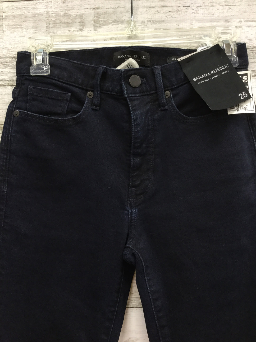 Photo #1 - BRAND: BANANA REPUBLIC , STYLE: JEANS , COLOR: DENIM , SIZE: 0 , OTHER INFO: NEW! , SKU: 127-4954-4755, , NEW WITH TAGS, HIGH RISE, SKINNY, ANKLE JEANS.