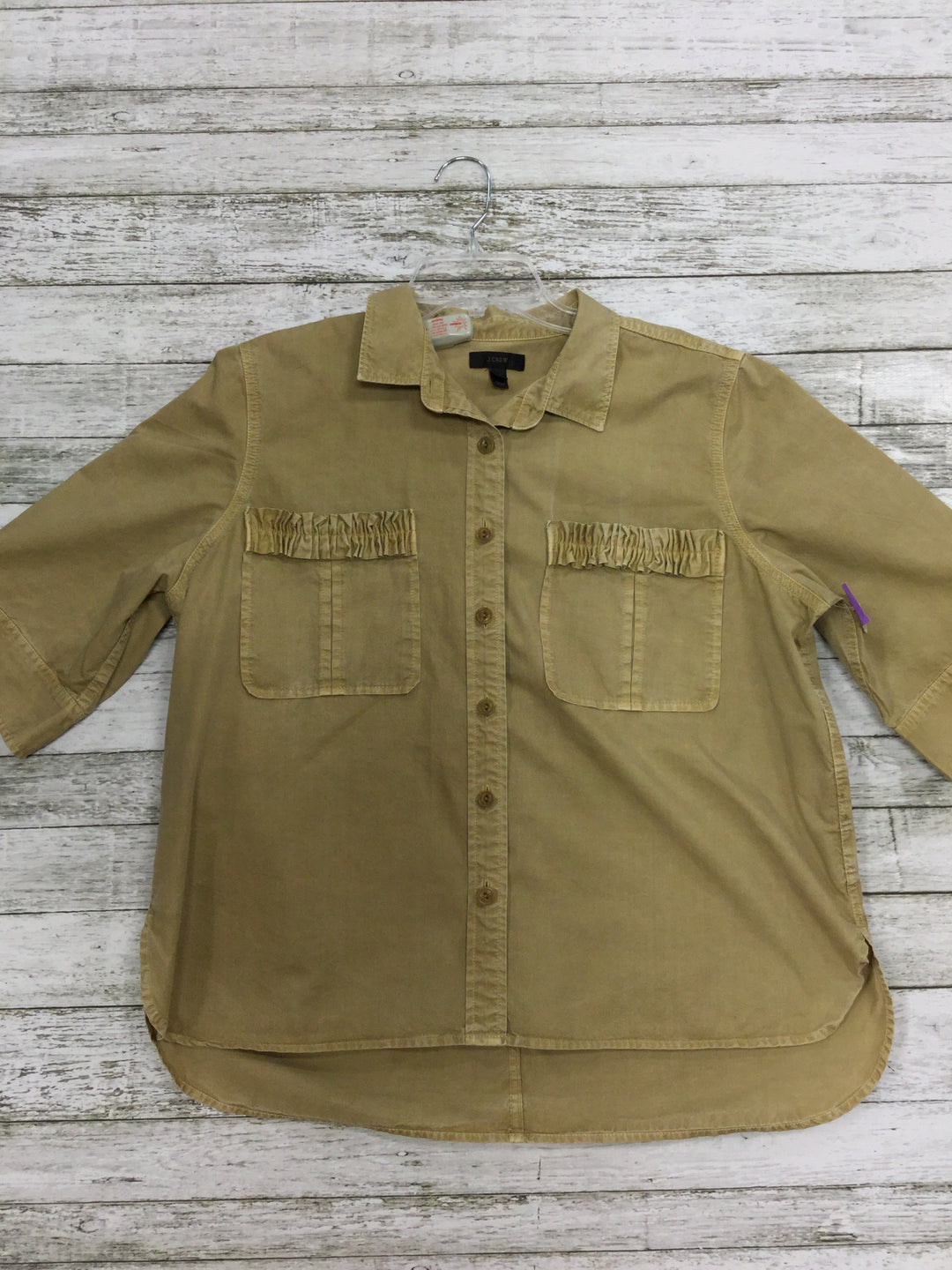 Primary Photo - BRAND: J CREW <BR>STYLE: TOP SHORT SLEEVE <BR>COLOR: KHAKI <BR>SIZE: 16 <BR>SKU: 127-3371-36578