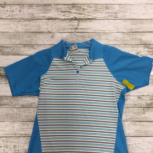 Primary Photo - BRAND: UNDER ARMOUR STYLE: ATHLETIC TOP SHORT SLEEVE COLOR: STRIPED SIZE: L SKU: 127-2767-89472