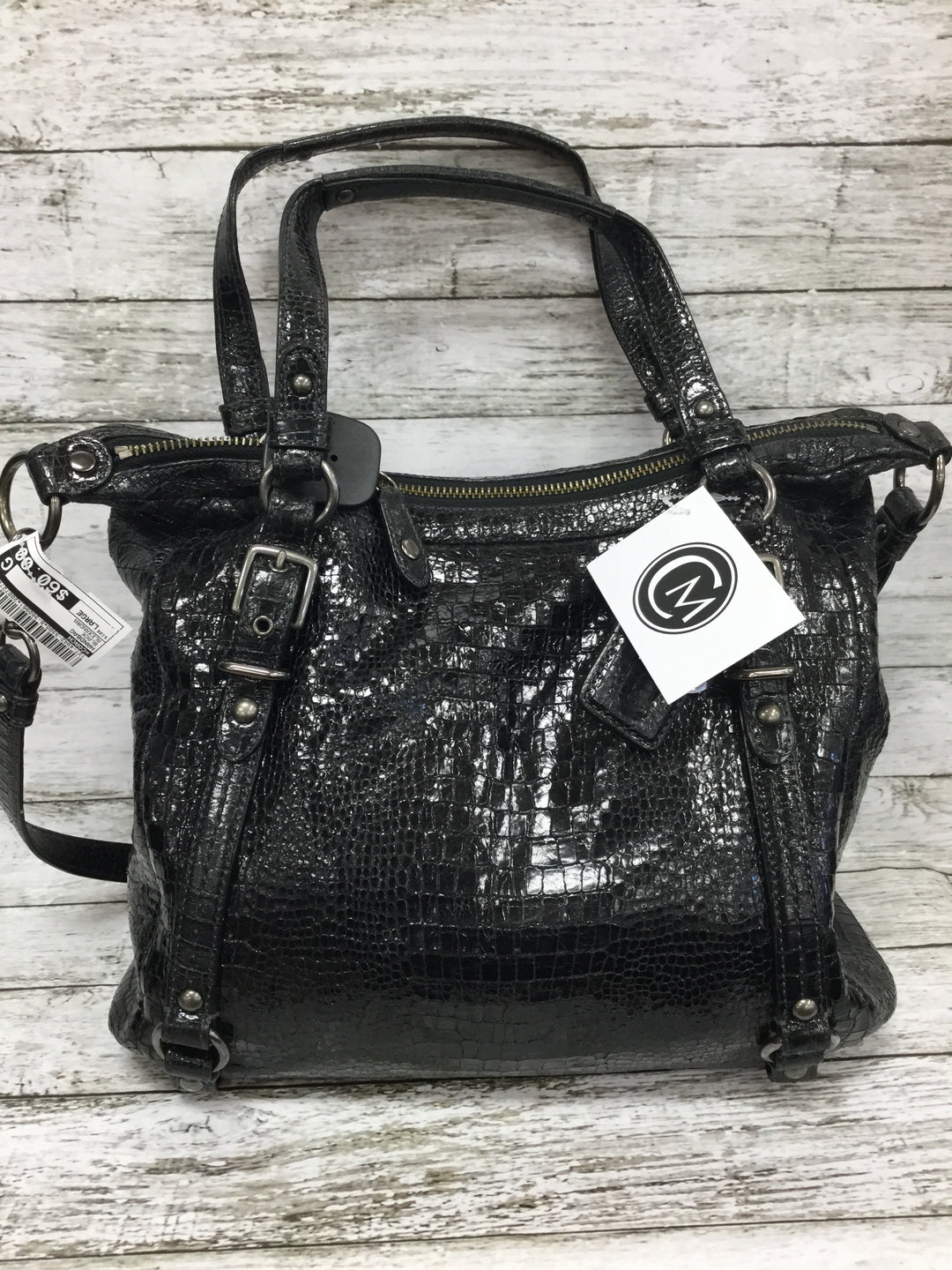 Photo #2 - BRAND: COACH , STYLE: HANDBAG , COLOR: BLACK , SIZE: LARGE , OTHER INFO: ALEXANDRA , SKU: 127-4942-3300, , THIS LEATHER COACH HANDBAG IS IN VERY GOOD CONDITION WITH SOME MINOR WEAR. THE INSIDE AND OUTSIDE ARE BOTH VERY CLEAN.