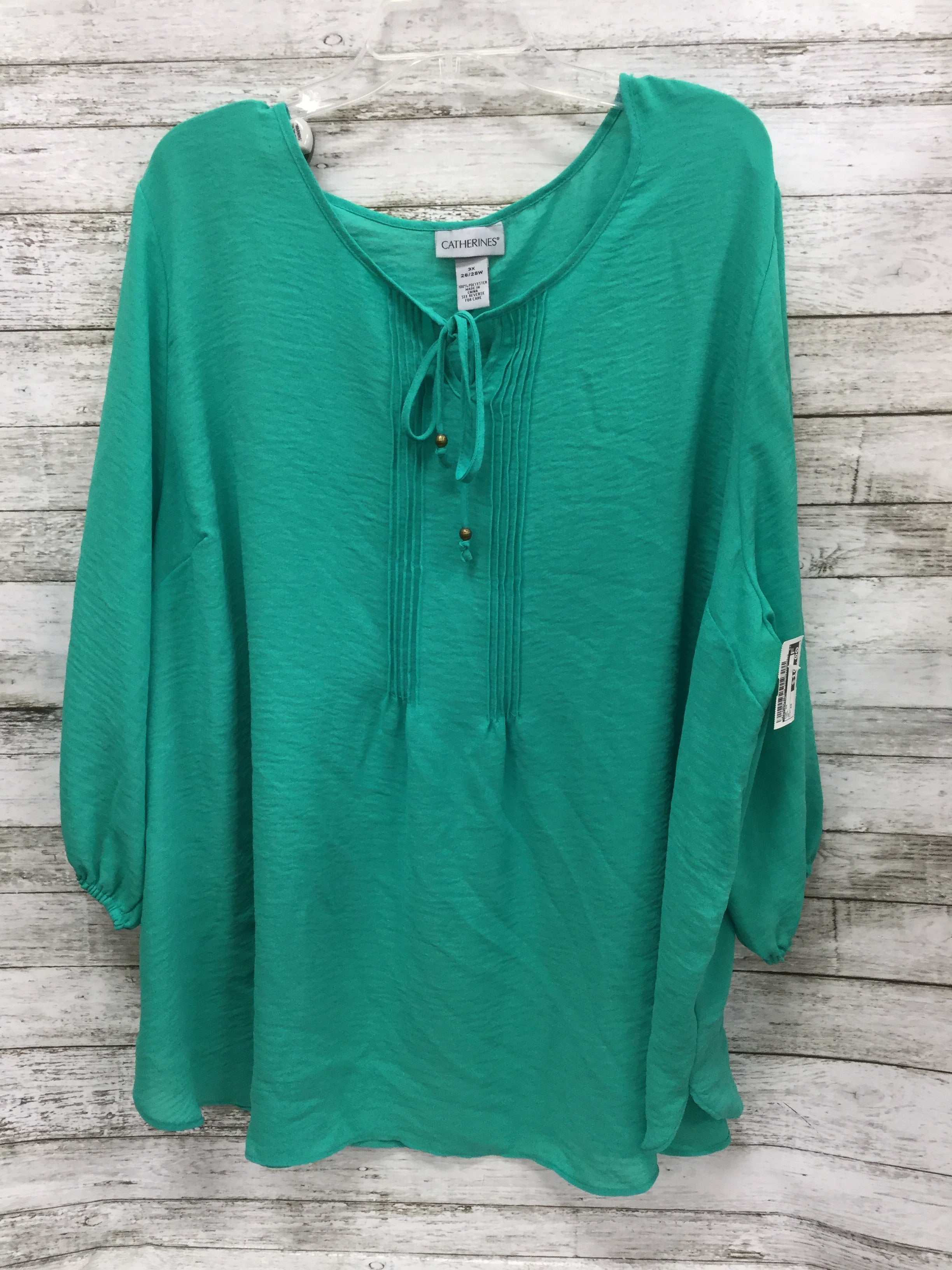 Primary Photo - BRAND: CATHERINES , STYLE: TOP SHORT SLEEVE , COLOR: TEAL , SIZE: 3X , SKU: 127-4954-3616