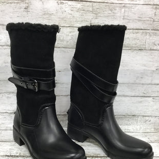 Primary Photo - BRAND: COACH STYLE: BOOTS ANKLE COLOR: BLACK SIZE: 7 OTHER INFO: AS IS SKU: 127-4169-33169BLACK COACH BOOTS WITH BUCKLE DETAIL AND FLEECE LINING! GREAT WINTER WEATHER BOOTS WITH MINIMAL WEAR ON SOLES!