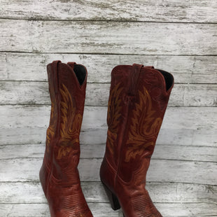 Primary Photo - BRAND:    CMD STYLE: BOOTS KNEE COLOR: RED SIZE: 7 OTHER INFO: CHARLIE HORSE - SKU: 127-4559-14335BEAUTIFUL COWBOY BOOTS WITH DISTRESSED REDDISH LEATHER BY CHARLIE HORSE! FEATURES YELLOW STITCHING DETAILS AND POINTED TOE. SLIGHT WEAR ON BOTTOM.