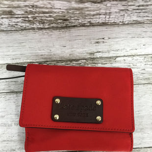 Primary Photo - BRAND: KATE SPADE STYLE: WALLET COLOR: RED SIZE: SMALL SKU: 127-3371-48386IN GREAT CONDITION. MINOR WEAR ON THE INSIDE LEATHER (AS PICTURED).