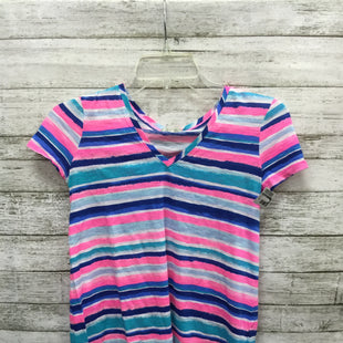 Primary Photo - BRAND: LILLY PULITZER STYLE: TOP SHORT SLEEVE COLOR: MULTI SIZE: XXS SKU: 127-2767-92331CUTE LILLY PULITZER V NECK, WITH WHITE, PINK, BLUE AND TURQUOISE STRIPES!