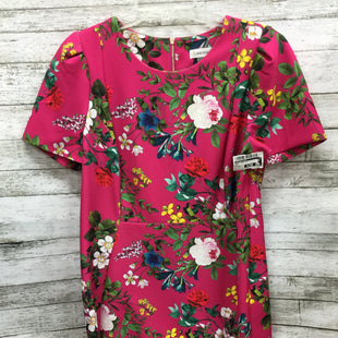 Primary Photo - LOOK FANCY IN FLORAL IN THE DRESS BY CALVIN KLEIN.BRAND: CALVIN KLEIN STYLE: DRESS SHORT SHORT SLEEVE COLOR: PINK SIZE: 16 SKU: 127-2767-90643