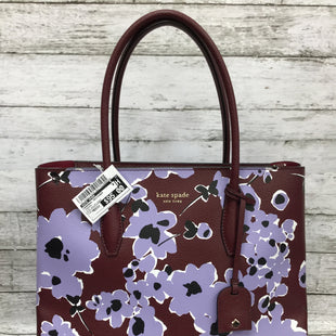 Primary Photo - BRAND: KATE SPADE STYLE: HANDBAG DESIGNER COLOR: MAROON SIZE: MEDIUM OTHER INFO: EVA WILDFLOWER SKU: 127-4432-215THIS HANDBAG CAN BE WORN AS A SHOULDER BAG BUT IT ALSO COMES WITH A REMOVABLE CROSSBODY STRAP! IT IS IN EXCELLENT CONDITION WITH JUST SOME MINOR WEAR.