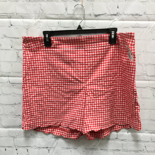 Primary Photo - BRAND: ZAC AND RACHEL STYLE: SHORTS COLOR: WHITE RED SIZE: 16 SKU: 127-4876-9162RED GINGHAM PULL ON SHORTS WITH SCALLOPED HEM!