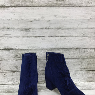 Primary Photo - BRAND: ZIGI SOHO STYLE: BOOTS ANKLE COLOR: BLUE SIZE: 9 SKU: 127-4942-2991SHE WORE BLUE VELVET! BEAUTIFUL BLUE BOOTIES WITH BLOCK HEEL AND EMBOSSED DESIGN!