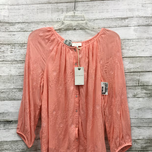 Primary Photo - BRAND: LUCKY BRAND STYLE: TOP LONG SLEEVE COLOR: CORAL SIZE: S OTHER INFO: NEW! SKU: 127-4008-9789BUTTON-FRONT TOP. NEW WITH TAGS AND IN GREAT CONDITION.