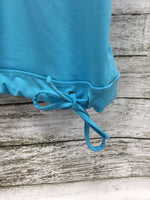 Photo #2 - BRAND: ATHLETA , STYLE: ATHLETIC TANK TOP , COLOR: TURQUOISE , SIZE: S , SKU: 127-4169-22672, , TIE BOTTOM ATHLETA TANK IN GOOD CONDITION. BUILT IN SPORTS BRA.