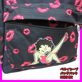 ▼Betty Boop バックパック【 KISS BLACK 】