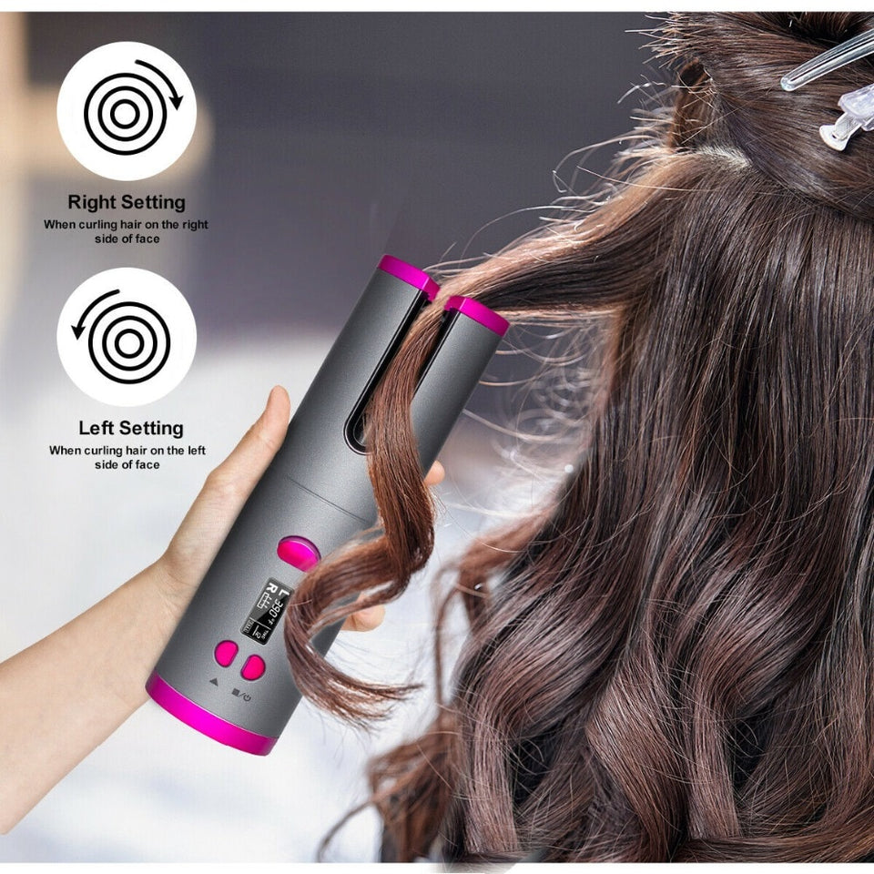 (50% OFF Now) Wireless Portable Rotating Ceramic Hair Curler