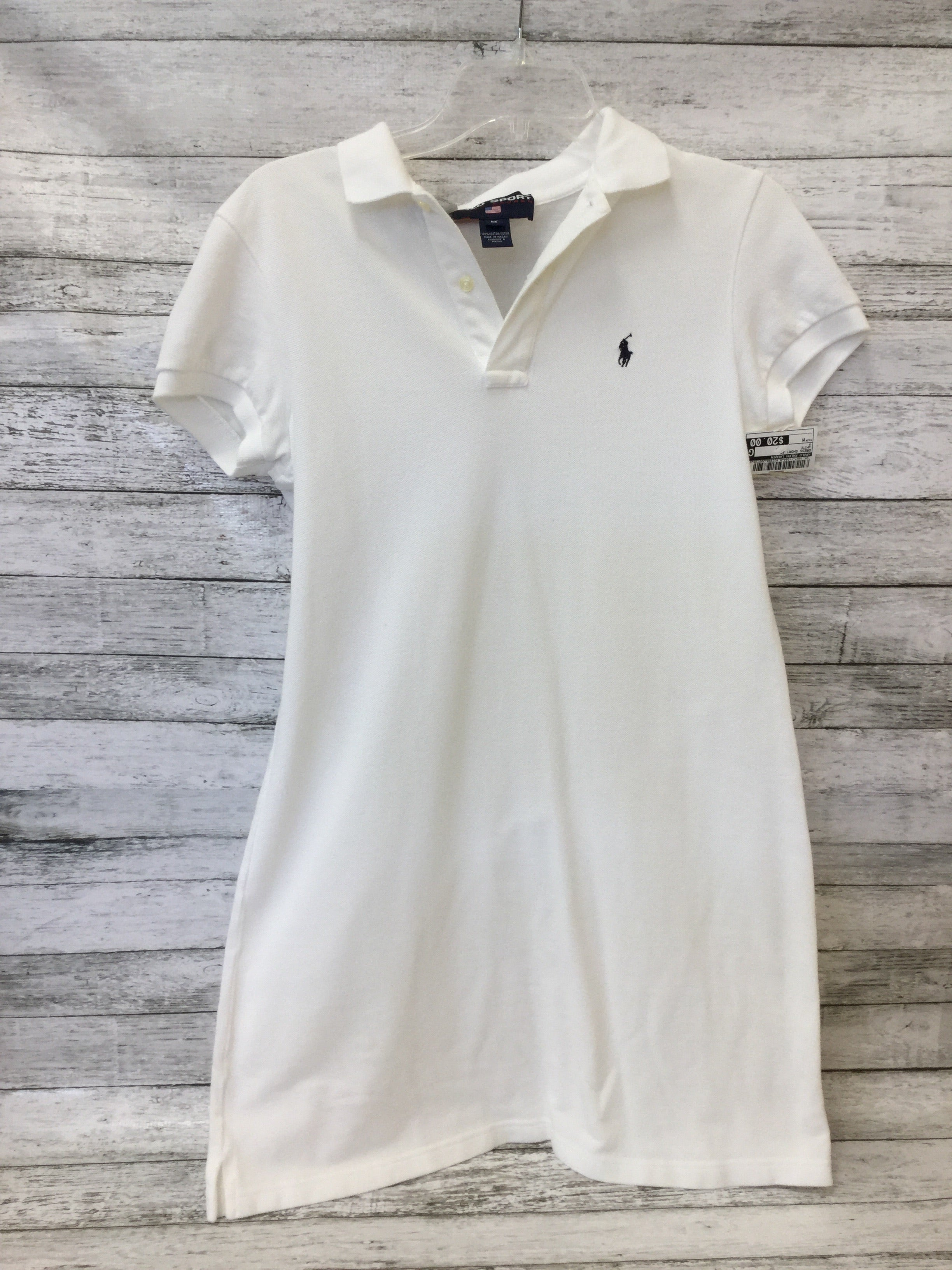 Primary Photo - BRAND: POLO RALPH LAUREN , STYLE: DRESS SHORT SHORT SLEEVE , COLOR: WHITE , SIZE: M , SKU: 125-1957-11094