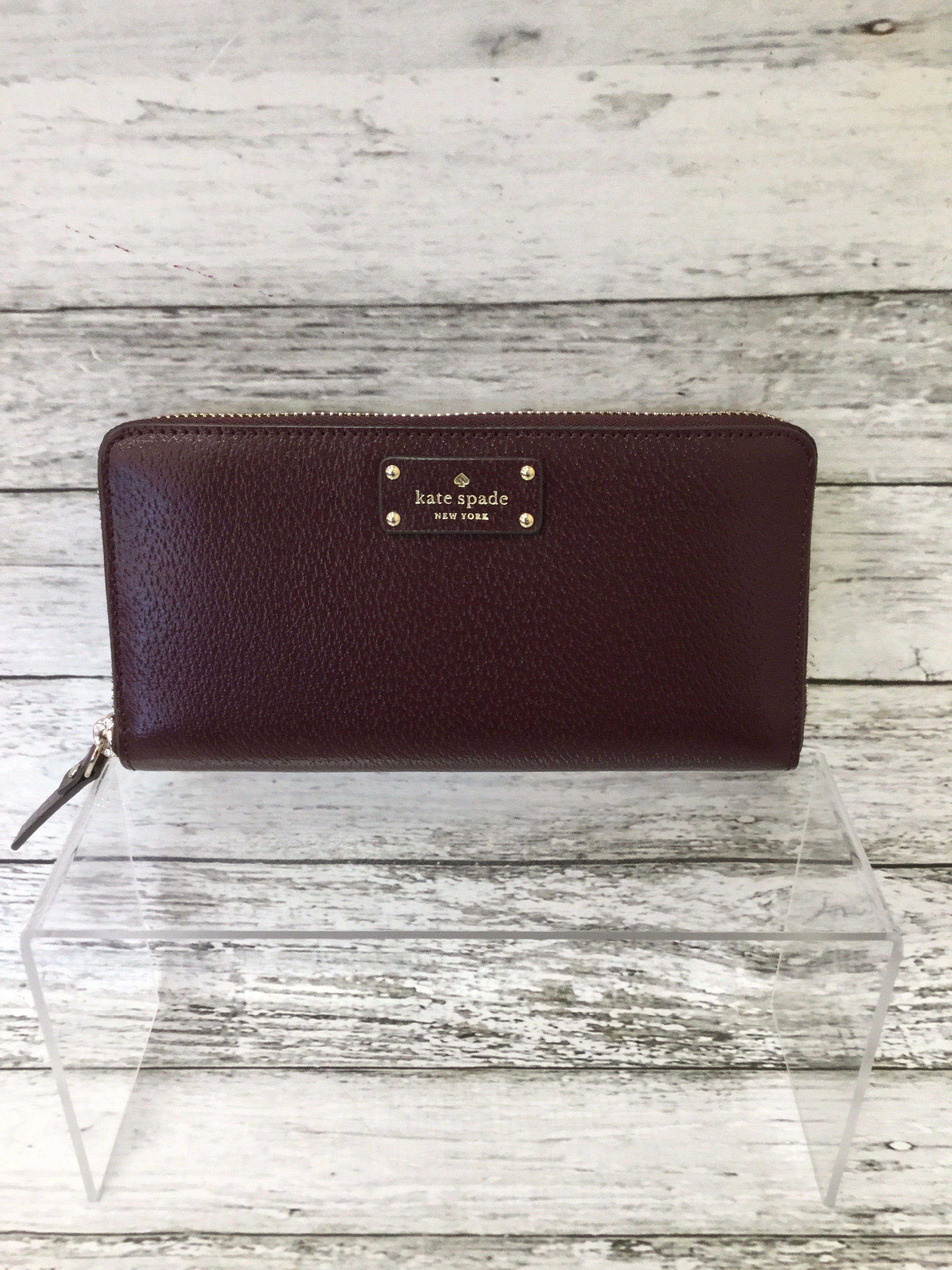 Photo #1 - BRAND: KATE SPADE <BR>STYLE: WALLET <BR>COLOR: MAROON <BR>SIZE: LARGE <BR>SKU: 125-4432-4110