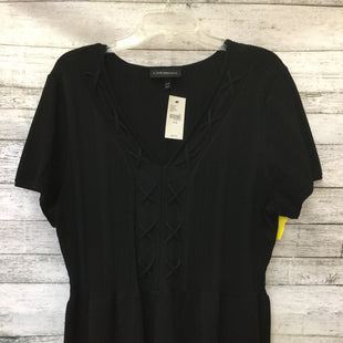 Primary Photo - BRAND: LANE BRYANT STYLE: TOP SHORT SLEEVE COLOR: BLACK SIZE: 3X OTHER INFO: NEW! SKU: 125-3916-55317