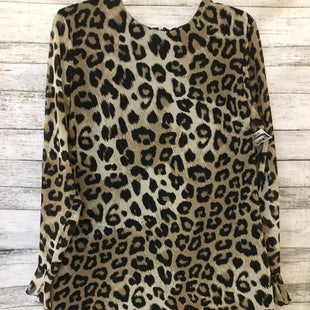 Primary Photo - BRAND: BANANA REPUBLIC STYLE: DRESS SHORT LONG SLEEVE COLOR: ANIMAL PRINT SIZE: 14 SKU: 125-3916-60259