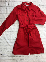 Primary Photo - brand: joan rivers , style: dress short long sleeve , color: red , size: l , sku: 125-3590-35991