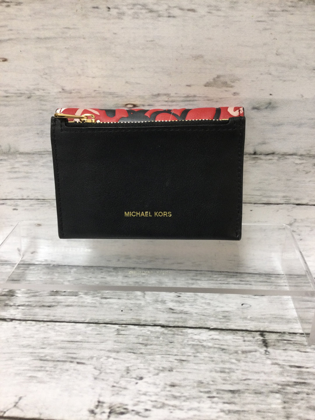 Photo #1 - brand: michael kors , style: wallet , color: black red , size: small , other info: cece small card case , sku: 125-1957-13873