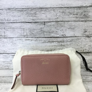 Primary Photo - BRAND: GUCCI STYLE: WALLET COLOR: PINK SIZE: MEDIUM SKU: 125-3916-58295