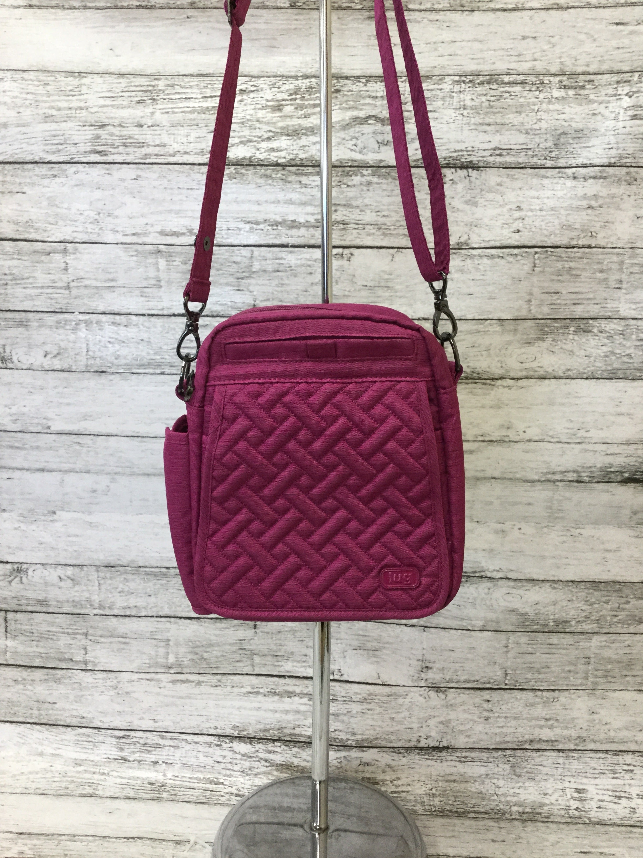 Photo #1 - BRAND:   CMC <BR>STYLE: CROSSBODY <BR>COLOR: RASPBERRY <BR>SIZE: SMALL <BR>OTHER INFO: LUG - HAS TWO STRAPS <BR>SKU: 125-4893-4508