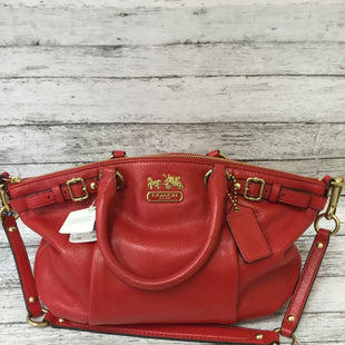 Primary Photo - BRAND: COACH O STYLE: HANDBAG DESIGNER COLOR: RED SIZE: SMALL SKU: 125-1957-9566