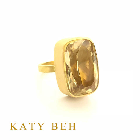 Custom Citrine 22k Gold Ring Katy Beh Jewelry New Orleans