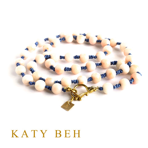 Custom Coral 22k Gold Necklace Katy Beh Jewelry New Orleans