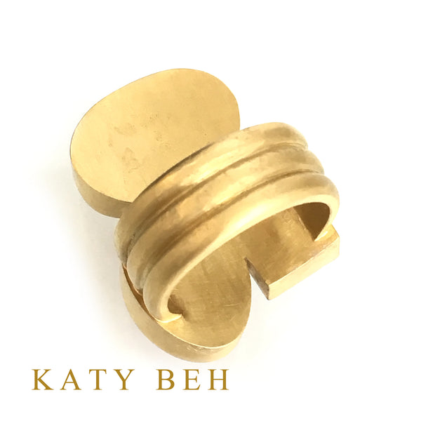 Katy Beh Jewelry 22k Gold Rose Quartz, Ruby, Pink Aquamarine