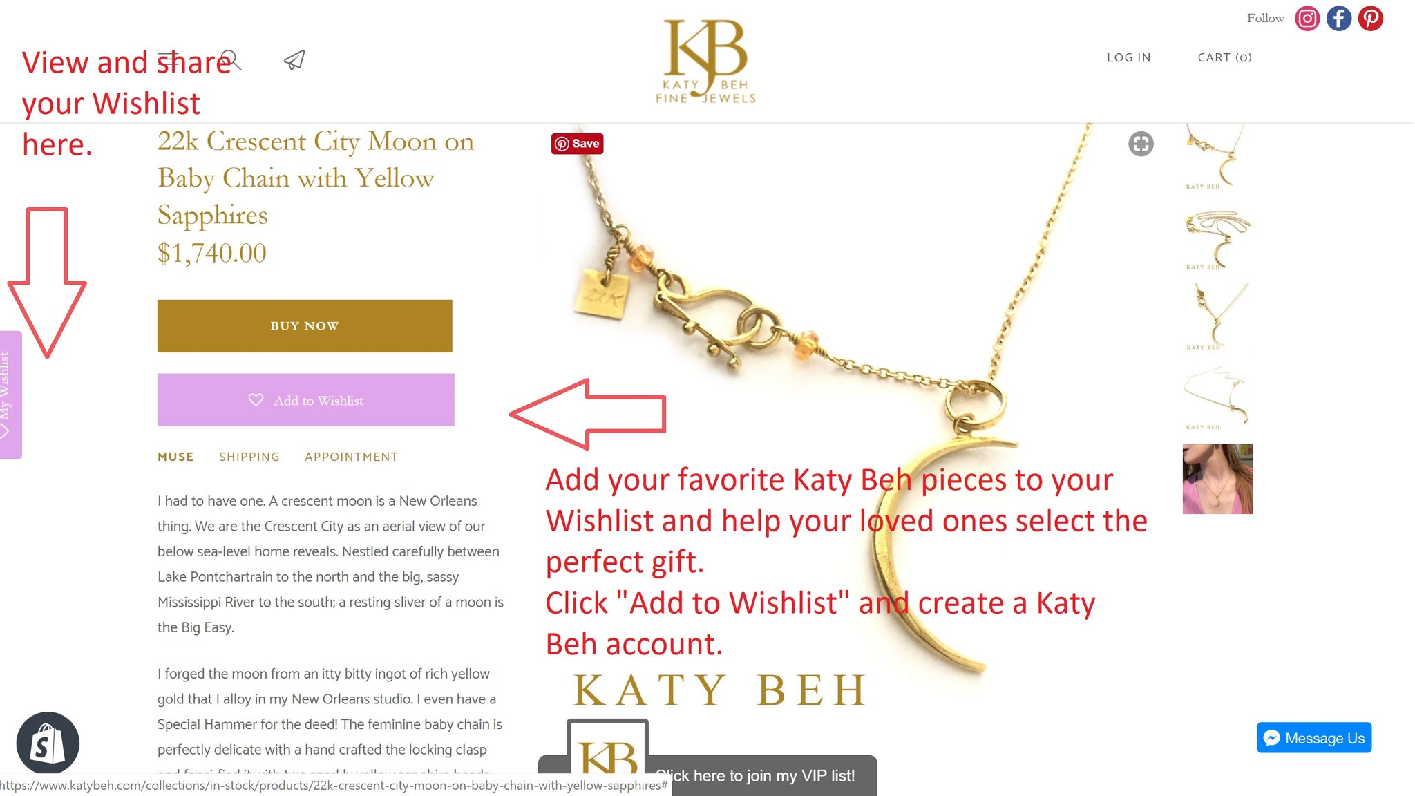 Katy Beh 22k Gold Jewelry New Orleans