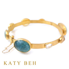 Custom Multi Gemstone 22k Gold Bracelet Katy Beh Jewelry New Orleans