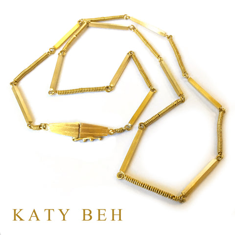 Custom 22k Gold Necklace Katy Beh Jewelry New Orleans