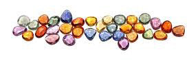 September birthstone multi colored sapphires