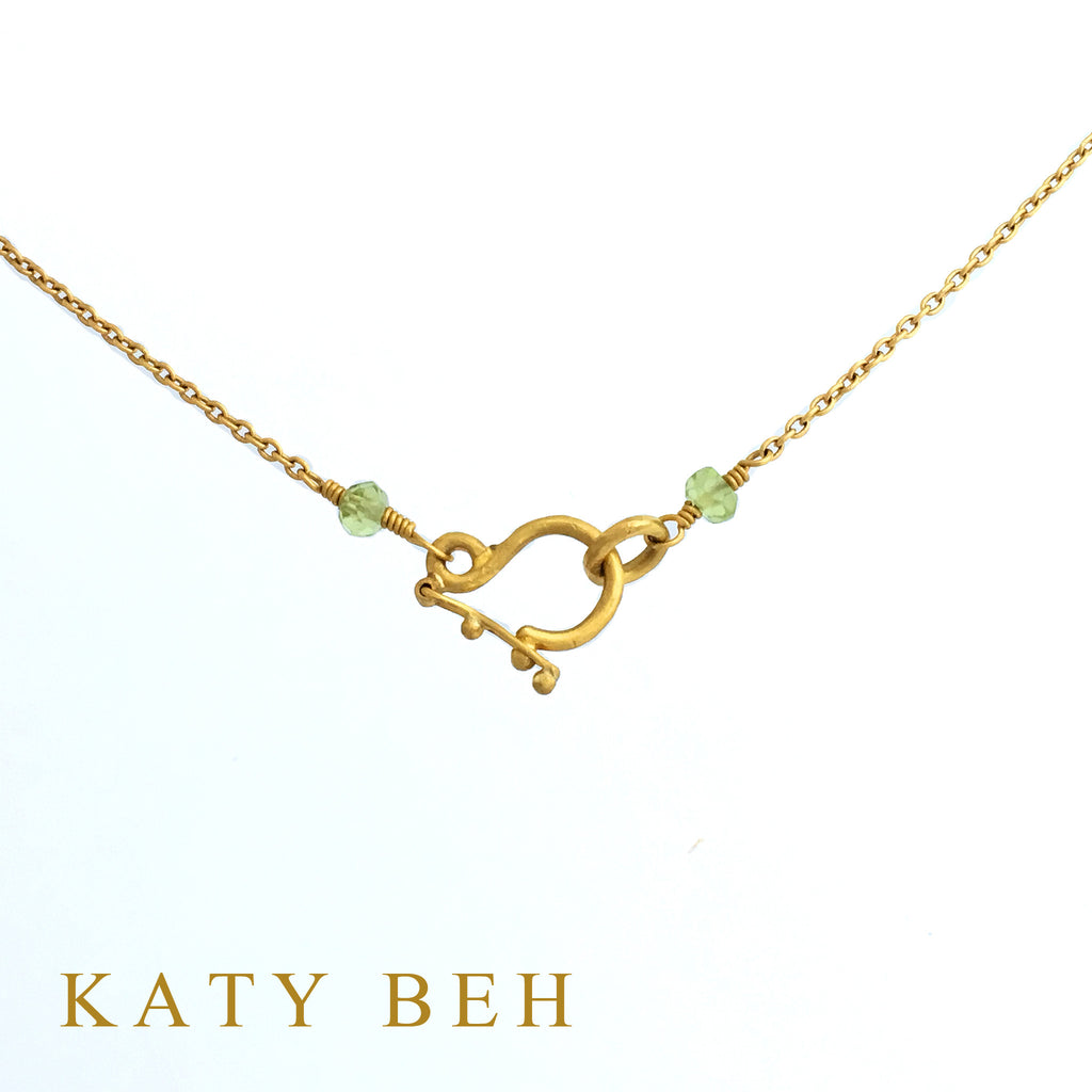 Baby Chain with Peridot Clasp - Katy Beh Jewelry - 2