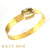 Percy Hammered 22k Gold and Beryl Bangle Bracelet