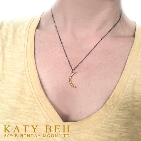 Katy Beh Crescent Moon Necklace New Orleans