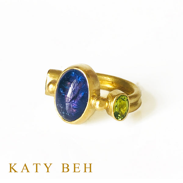 Adina Tanzanite and Peridot Ring