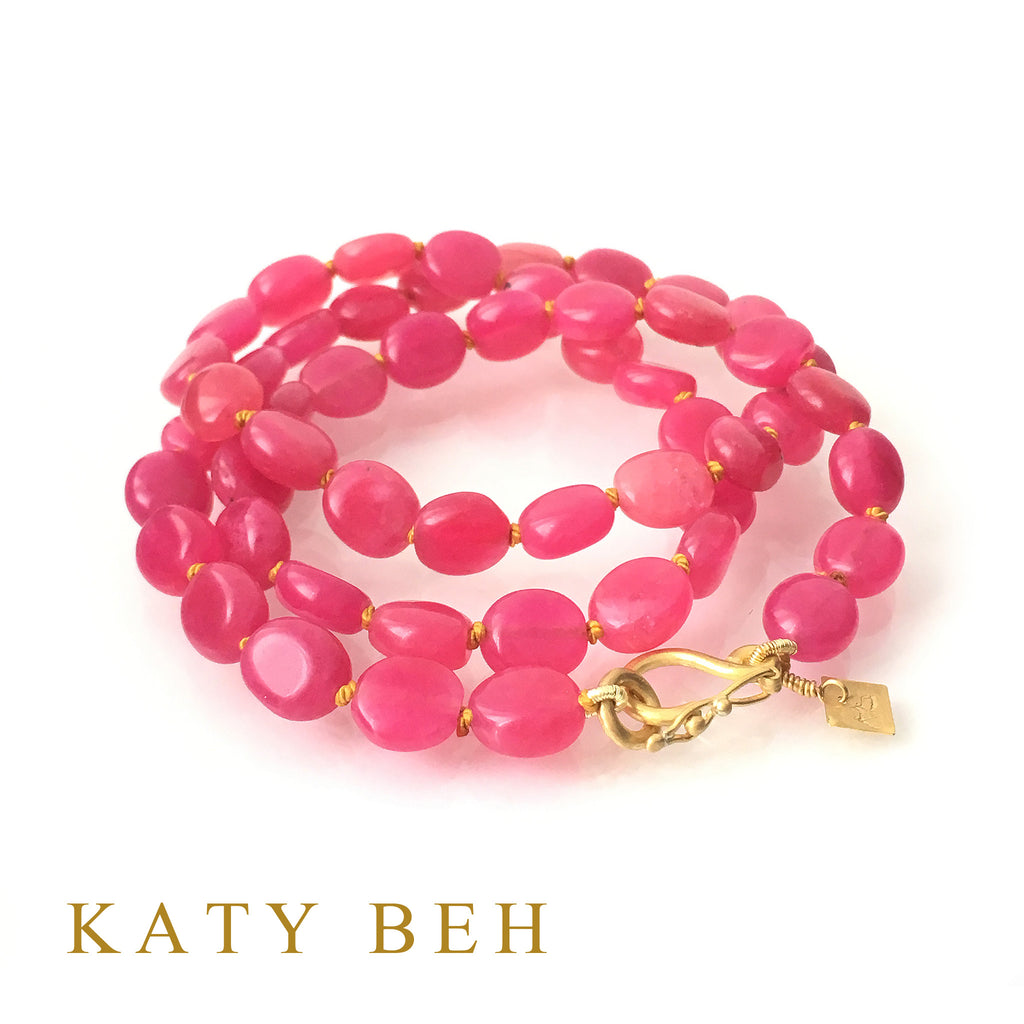 Andie Hot Pink Quartz Necklace