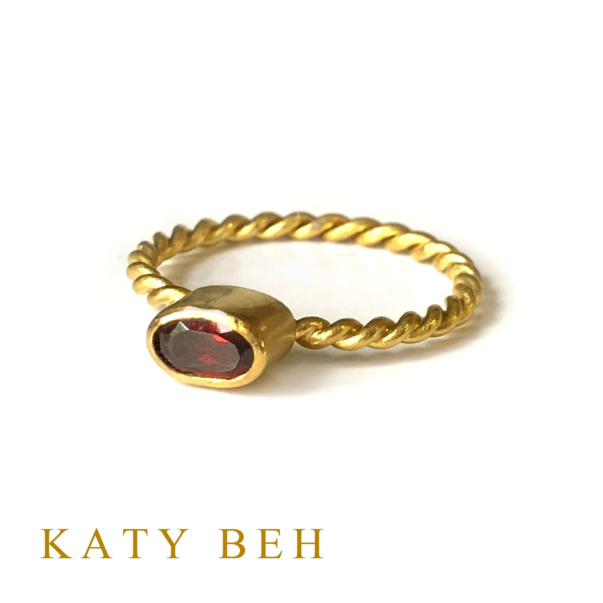 Angie Red Garnet Ring