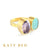 Anita Rose de France Amethyst and Peruvian Opal Ring
