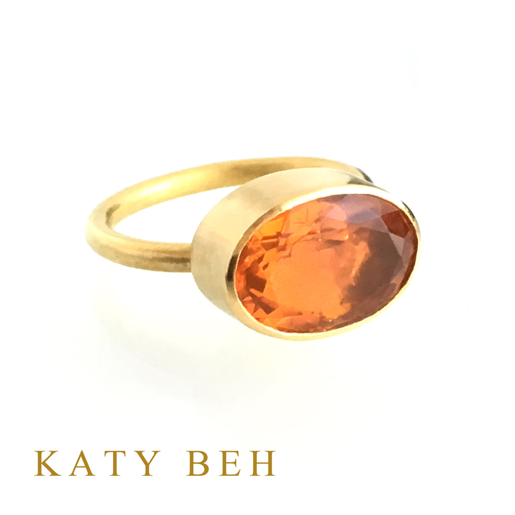 April Fire Opal Ring