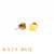 Candace 22k Gold Square Stud Earrings