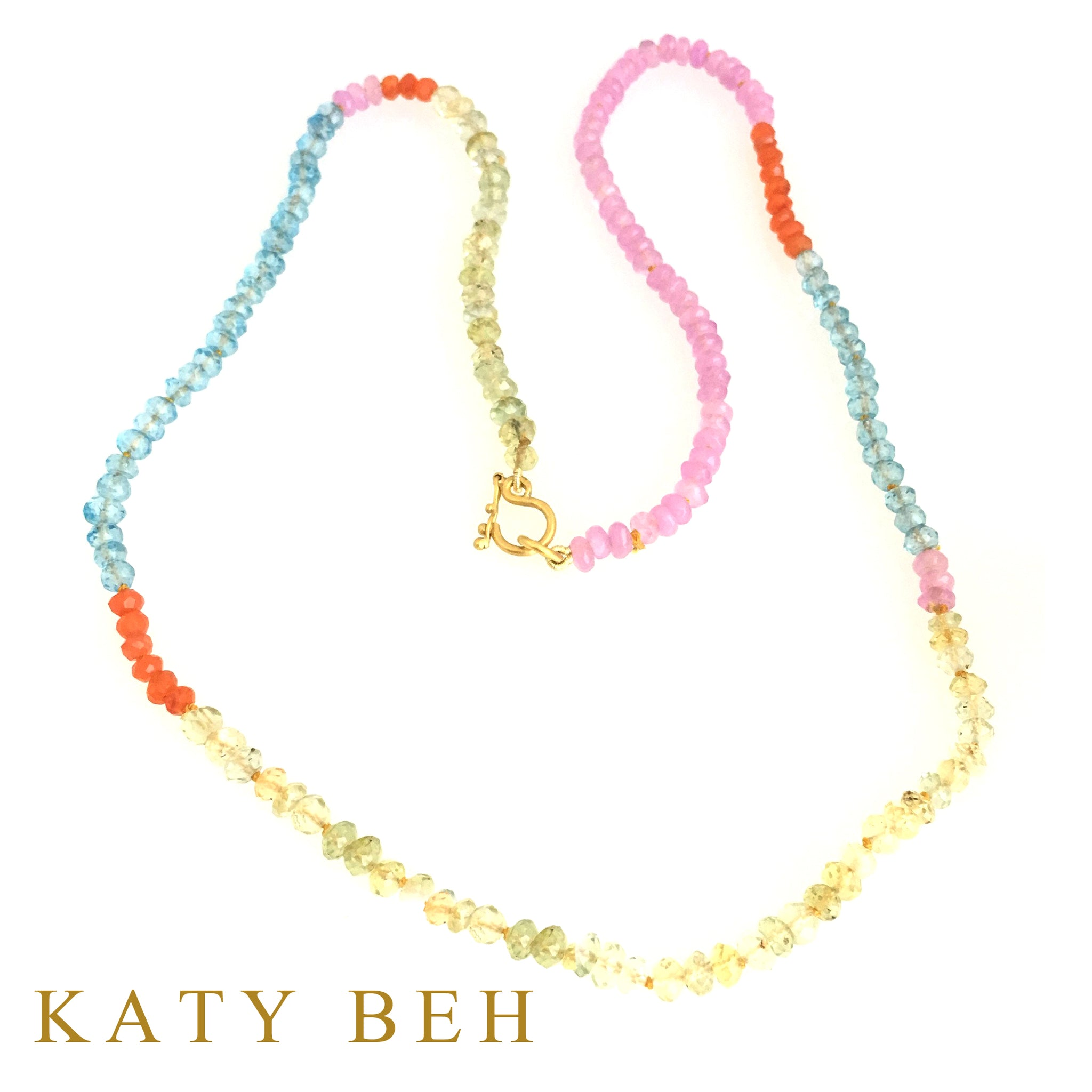 Charlotte Multi Gemstone Necklace