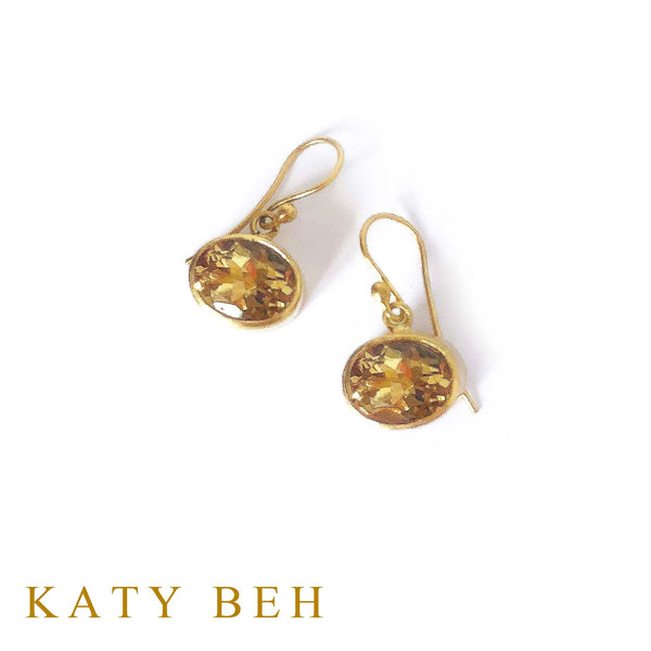 Clementine Citrine Earrings