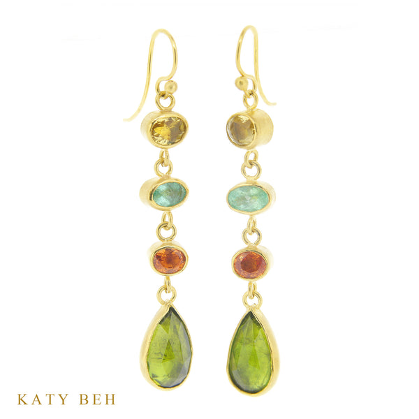Earrings - Katy Beh 22k Gold Handmade Jewelry New Orleans
