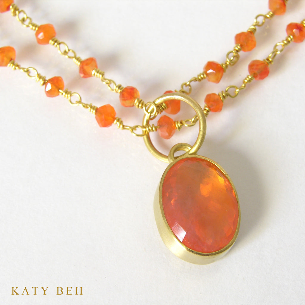 Mexican fire opal pendant katy beh jewelry pendant katy beh 22k gold handmade jewelry new orleans aloadofball Image collections